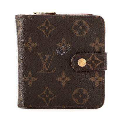 Louis Vuitton Zipped Compact Wallet in Monogram Canvas
