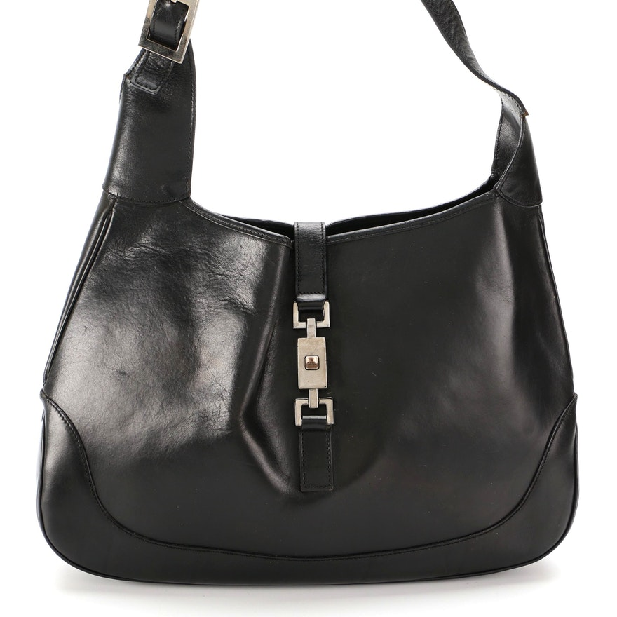 Gucci Jackie Black Leather Shoulder Bag