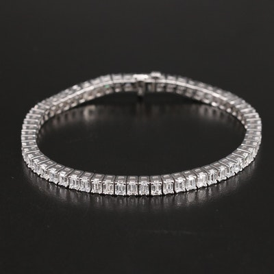 14K 8.55 CTW Diamond Line Bracelet with IGI Report