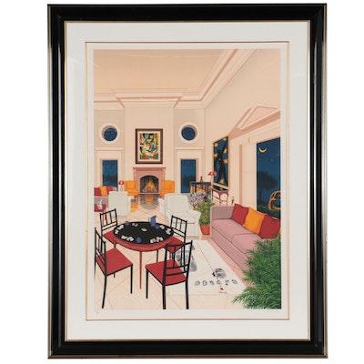 """Fanch Ledan Color Lithograph """"Le Salon Matisse,"""" 1993"""