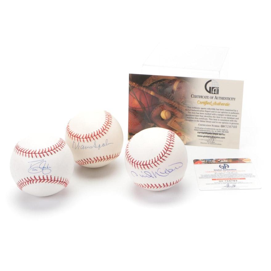Atlanta Braves Team Players Signed Baseballs