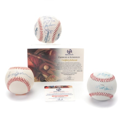Reggie Jackson and Other Oakland A's Signed Baseballs, COAs