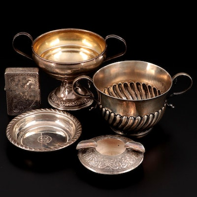English Henry J. Lias and James Wakley Sugar Bowl and Other Silver Tableware