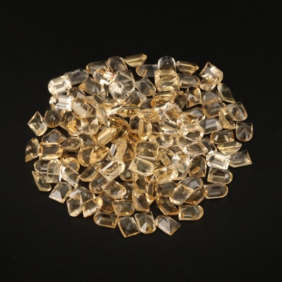 Loose 104.19 CTW Window Faceted Citrine