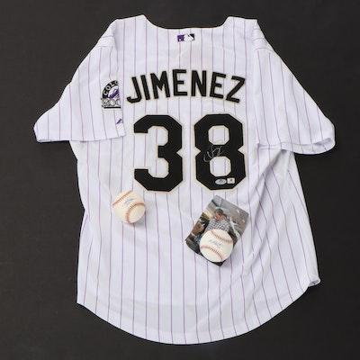 Colorado Rockies Signed Jersey and Baseballs, COAs