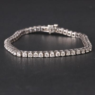 14K 5.30 CTW Diamond Diamond Tennis Bracelet