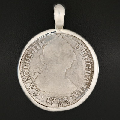 1783 Spanish Colonial (Mexico) 2-Reales Silver Coin
