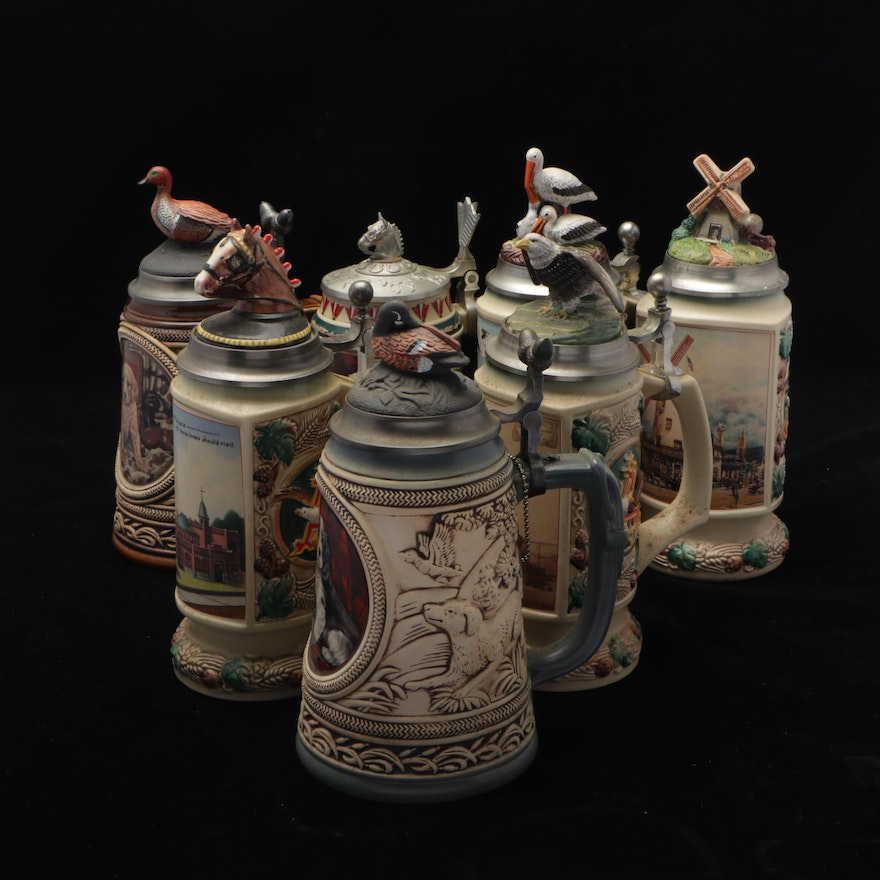 Anheuser-Busch Collectors Club and Other Beer Steins