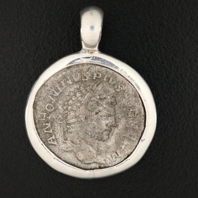 Ancient Roman Imperial AR Denarius of Caracalla, ca. 212 AD