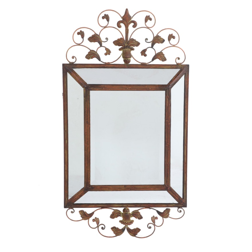 The Silky Way, Verdigris Finished Metal Mirror, Late 20th to 21st Century