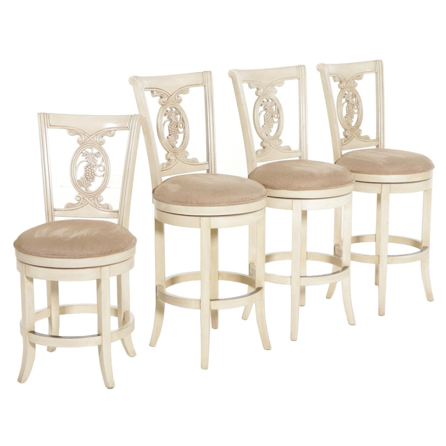 Set of Four Hillsdale Swivel Barstools