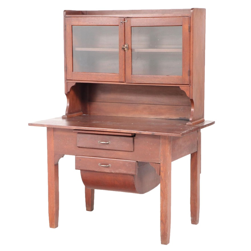 """American Primitive """"Possum Belly"""" Kitchen Cabinet, Early 20th Century"""