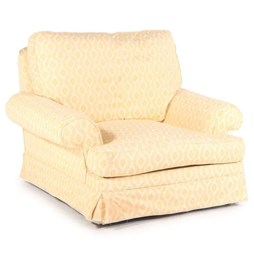Oversized Custom Slip-Covered Easy Armchair