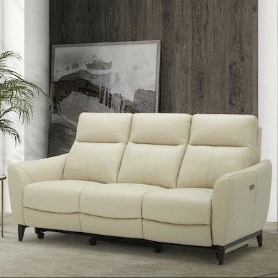 "Gilman Creek ""Crosslin"" Leather Power Reclining Sofa"