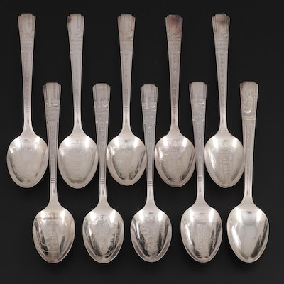 Wm Rogers and Other 1939 New York World's Fair Silver Plate Souvenir  Spoons