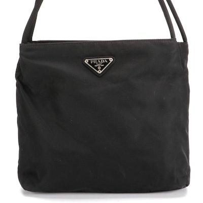 Prada City Tote Shoulder Bag in Black Nylon