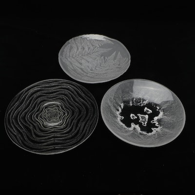 """Hoya """"Islands Ice"""" and Other Glass Plates"""