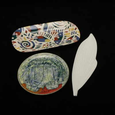 Spode Porcelain Dish with Other Serveware