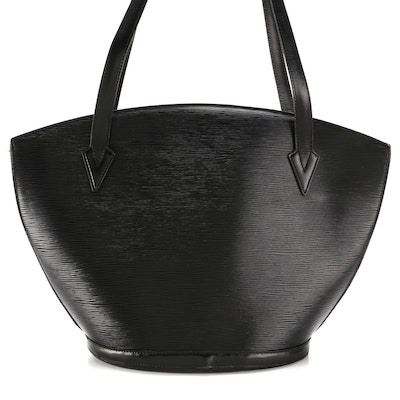 Louis Vuitton Saint Jacques GM Bag in Black Epi and Smooth Leather