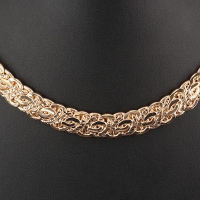 Italian Byzantine Chain Link Choker
