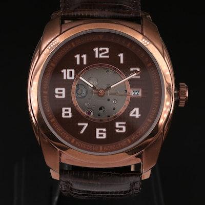 Croton Rose Chocolate Tone Stainless Steel Wristwatch