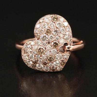 EFFY 14K ROSE GOLD ESPRESSO DIAMOND, RING