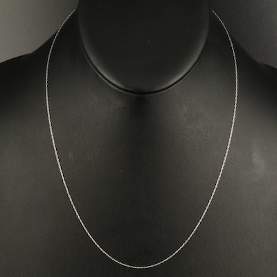 14K Loose Rope Chain Necklace