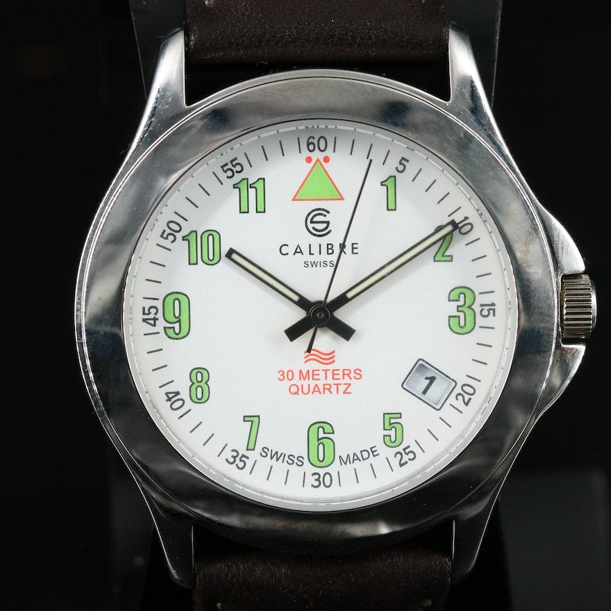Calibre Stainless Steel Quartz Wristwatch