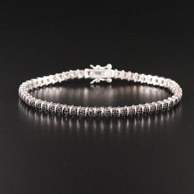 Sterling Silver Black Diamond Bracelet