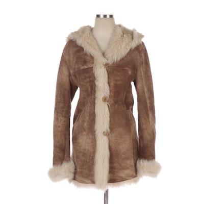 Blue Duck Toscana Shearling Hooded Coat