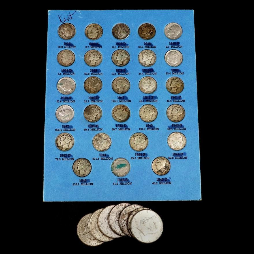 U.S. Silver Dimes and Half Dollars