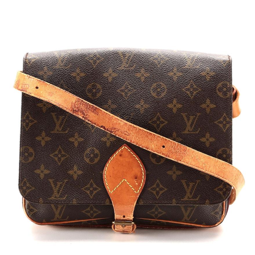 Louis Vuitton Cartouchiere GM in Monogram Canvas and Vachetta Leather
