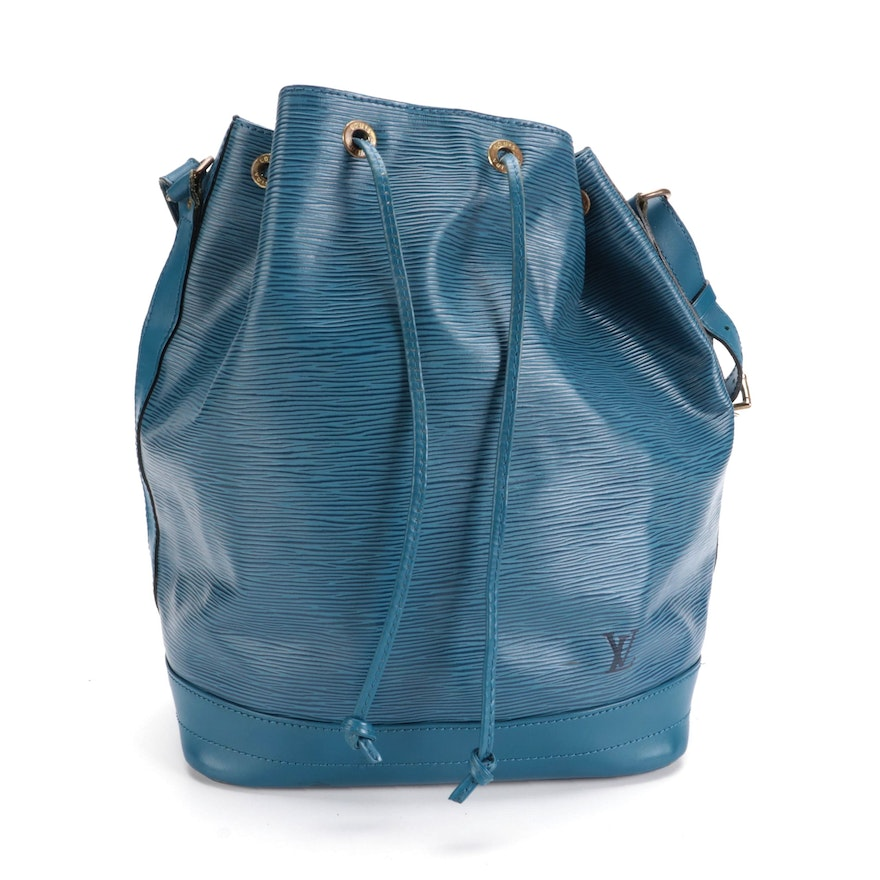 Louis Vuitton Noé Bucket Bag in Toledo Blue Epi and Smooth Leather