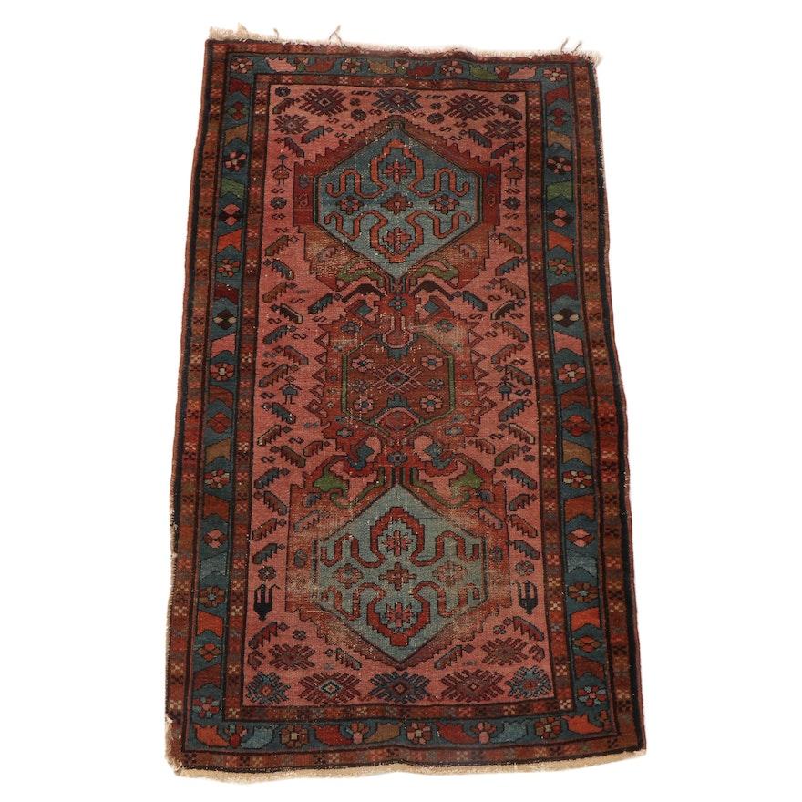3'4 x 5'10 Hand-Knotted Persian Kurdish Village Rug
