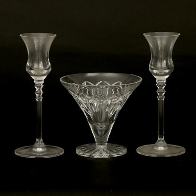 Waterford Crystal Compote and Other Crystal Candlesticks