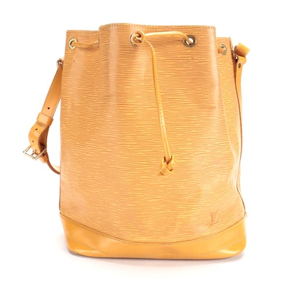 Louis Vuitton Noé in Tassil Yellow Epi and Smooth Leather