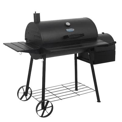 King-Griller Smokin' Ace Black Barrel Charcoal Grill