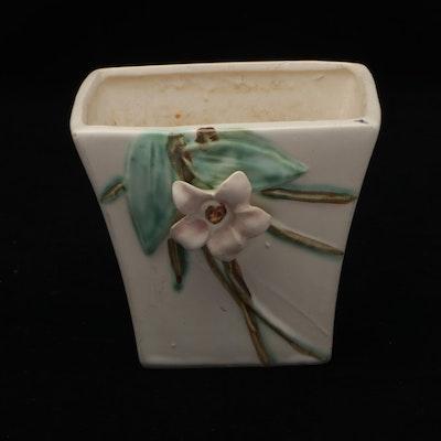McCoy Art Pottery Ceramic Floral Vase, Mid-20th Century