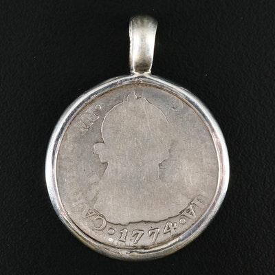 1774 Spanish Colonial (Mexico) 2-Reales Silver Coin