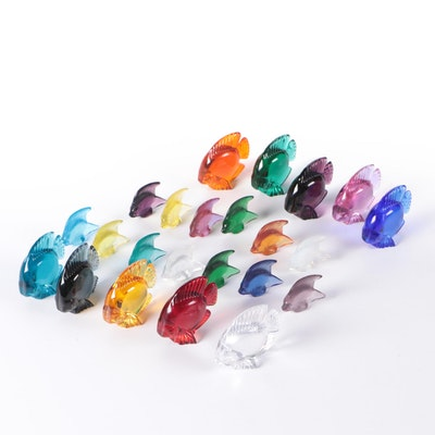 Daum France and Other Art Glass Fish Figurines