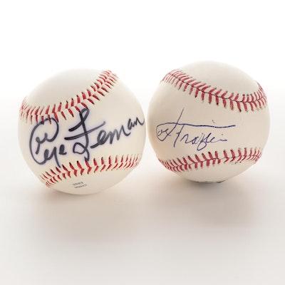 Joe Frazier and George Foreman Signed Rawlings Baseballs,  COAs
