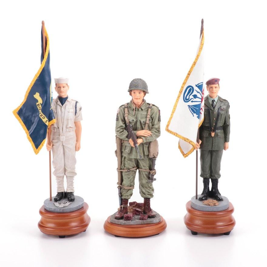 """Vanmark """"American Heroes"""" Musical Figurines and Figurine"""