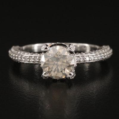 Platinum 1.67 CTW Pavé Diamond Ring