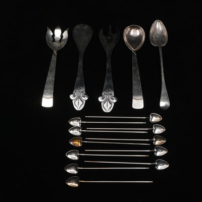 Mariposa Aluminum Serving and Drink Spoons
