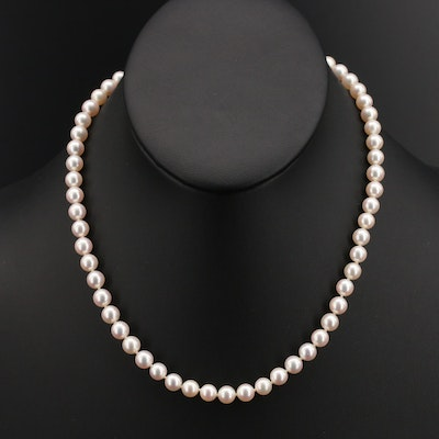 Mikimoto Pearl Necklace with 18K Clasp