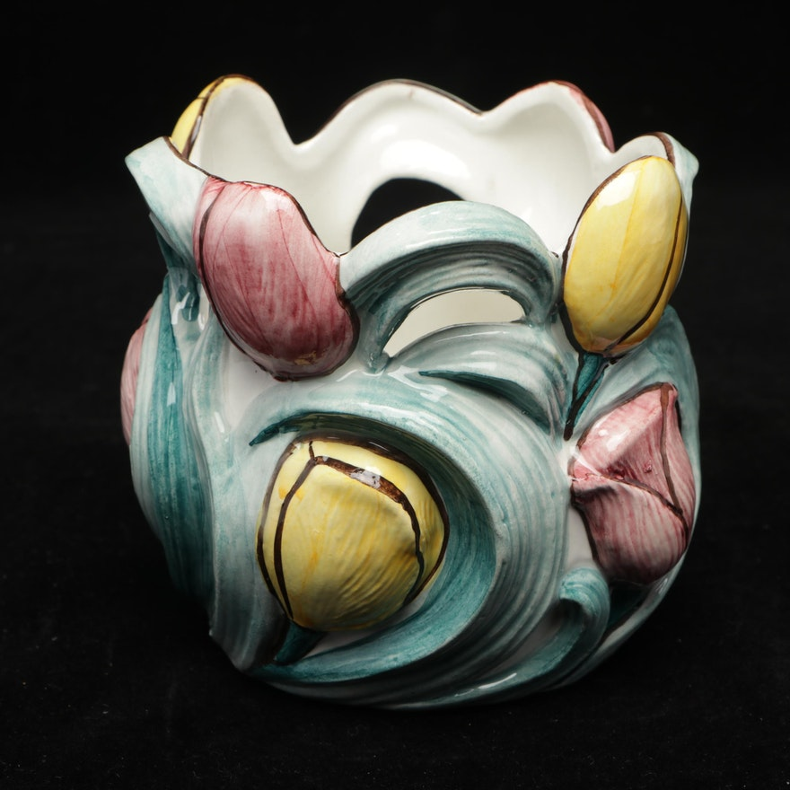 DeKlomp Delftware Hand-Painted Vase