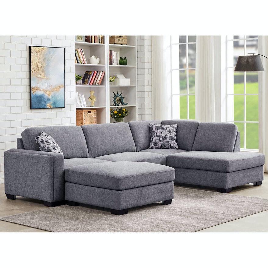 """""""Maycen"""" Right Facing Sectional Sofa"""