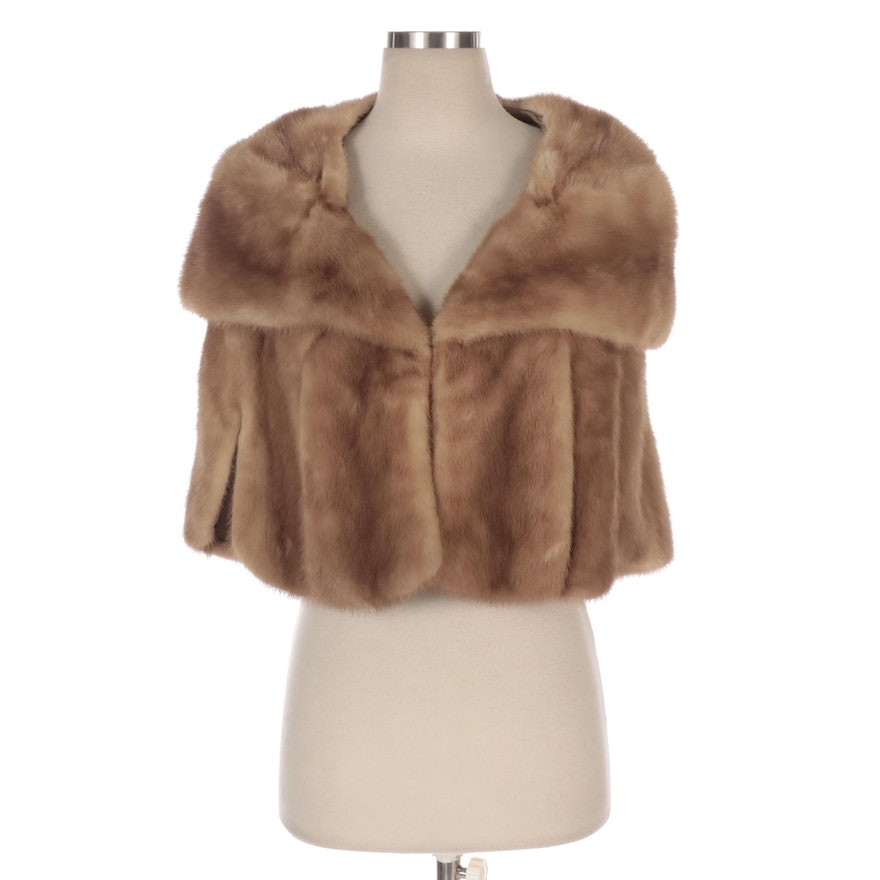 Mink Fur Capelet with Shawl Collar from Le Don Original Furs