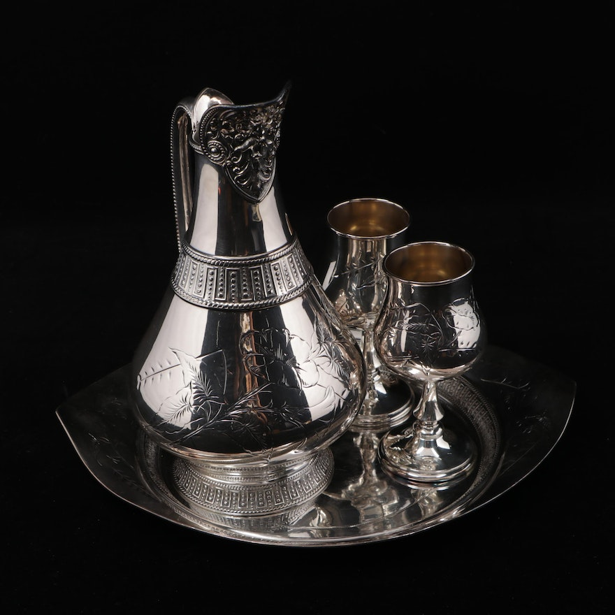 James W. Tufts Silverplate Victorian Wine Set, Late 19th Century