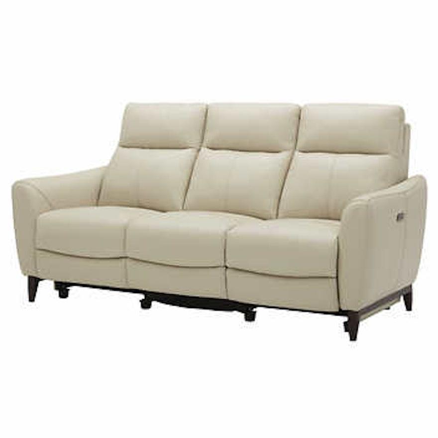 "Gilman Creek ""Crosslin"" Leather Power Reclining Sofa with Power Headrests"